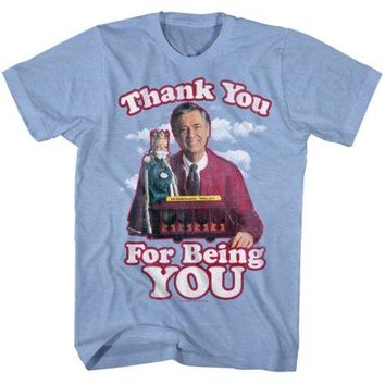 Mister Rogers Thank You Mens T-Shirt