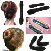 2PCS Hari Tool Styling Accessories Hair MAgic SpongeClip Foam Bun Curler Twist