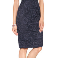 Valentino - Lace Overlay Sheath Dress