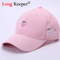 Ladies' Cute Baseball Cap Spring Cotton Caps for Women Casual fruit fish Pattern Hat Fashion Snapback gorras beisbol B063