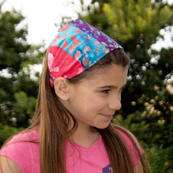 MEDIUM Headscarf Headband Brown Hair Band Quilt Head Scarf, Quilted Head Wrap (Item 5028) BT