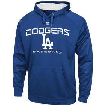 L.A. Dodgers Majestic 2 Cool Synthetic Pullover Hoodie – Royal Blue