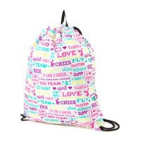 All About Cheer Drawstring Bag