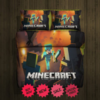 Set Gift Minecraft Fleece Blanket Large With 2 Pillow Cases #87700233,87700235(2)