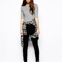 ASOS PETITE High Waisted Skinny Twill Trouser