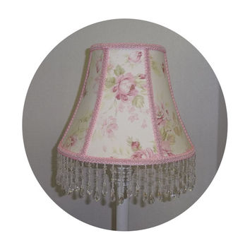 Pristine Rose Shabby Chic Lamp Shade