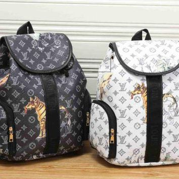 LV fashion letters backpack[380498280484] F