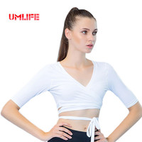 UMLIFE Quick Dry Sexy Women's Yoga Shirts Wirefree Straps Yoga Tank Tops For Running Fitness Gym Tights Women Sports Shirts Tops