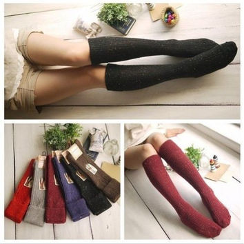 Ladies Over The Knee Thigh High Womens Stretch Girls Cool Blend Sock Size 5-9