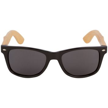 Black Hybrid Bamboo Wood Sunglasses