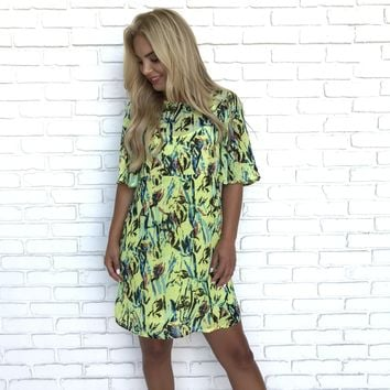 Show Me The Way Floral Shift Dress