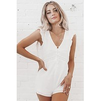 Nice To Meet You Little White Romper