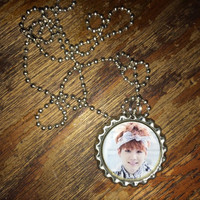 Suga BTS KPOP group face bottlecap necklace