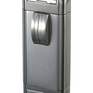 Visol Perseus Satin Gunmetal Wind-Resistant Jet Flame Lighter