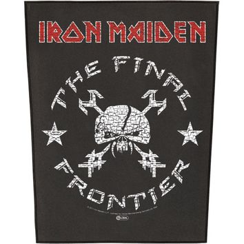 Iron Maiden Men's Vintage Skull Back Patch Black