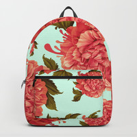 A Splash of Peony, A Dash of Color Backpacks by Kristy Patterson Design