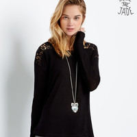 Aeropostale  Junie and Jade Long Sleeve Lace Knit Top