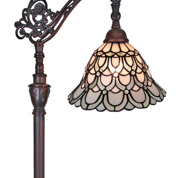 Tiffany Style  Floor Lamp 62 In Adjustable Shade