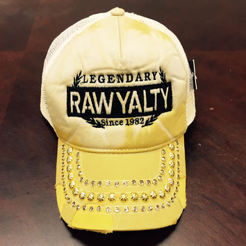 Rawyalty Legendary Crystal Stone Hat Tie Dye Yellow