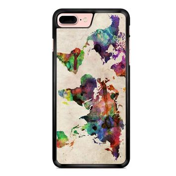 World Map Urban Watercolor iPhone 7 Plus Case