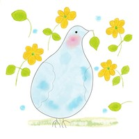 Peace Dove with yellow flowers by Orte Ruiz Designs on Crated