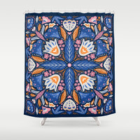 Bright Boho Style Shower Curtain by noondaydesign