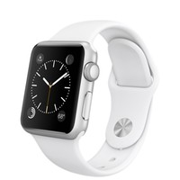 Apple Watch Sport - 38mm Silver Aluminum Case with White Sport Band
