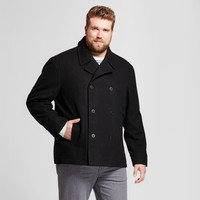 Men's Big & Tall Standard Fit Wool Pea Coat - Goodfellow & Co™