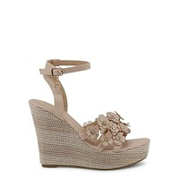 Laura Biagiotti Women Brown Wedges