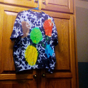 Planets Tie Dyed Shirt sized Mens XL by wilDandwackYuniversE
