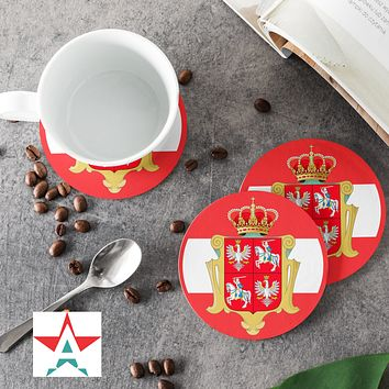 PolishLithuanian Commonwealth Round Coasters (Set of 4 coasters)