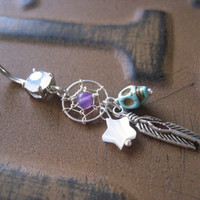 Star Turquoise Skull Dream Catcher Belly Button Ring