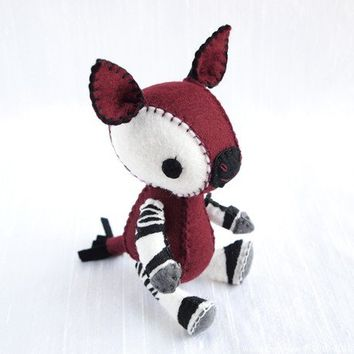 Okapi Plush Art Doll, Visola (Made to Order)