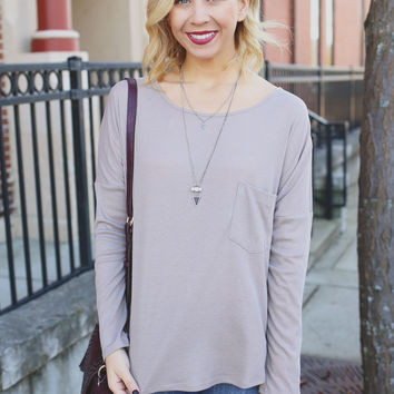 Gone Rogue Top - Taupe