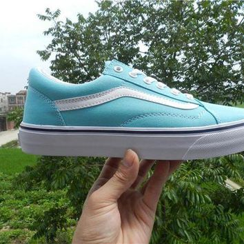 DCCKGV7 Trendsetter Vans Canvas Old Skool VN0A38G1MWL Light Blue Flats Sneakers Sport Shoes