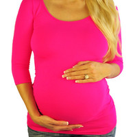 Pink Maternity Tops-Bright From The Start | Mommylicious Maternity
