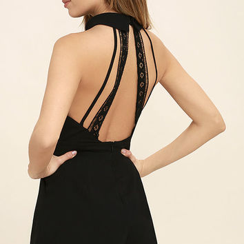Pieces of Me Black Romper