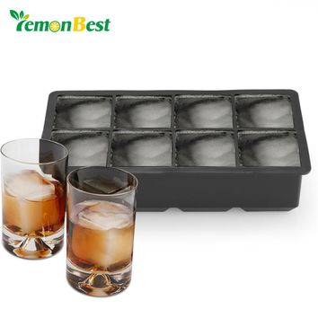 LemonBest 3D Silicone Ice Mold Cool Whiskey Wine Cocktail Cube Tray Maker Home Kitchen Ice Cram Mould DIY Tools Halloween