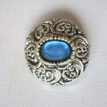 Vintage ,Victorian ,brooch,Blue stone