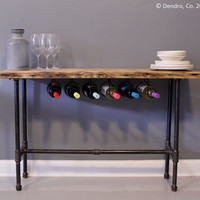 Wine Rack / Wine Bar / Breakfast Nook   Urban by DendroCo on Etsy