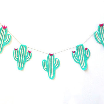 Super Fun Cactus Felt Party Banner