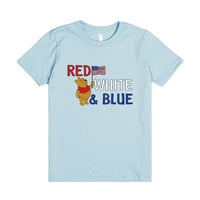 Pooh with Red, white and blue