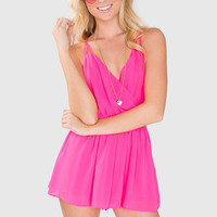 Sydney Playsuit - Hot Pink