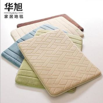 PEAPUNT Carpets For Bathroom 40*60cm / 50*80cm, Candy 13-Color Rugs ,Antiskid Area Mat Coral Fleece Carpet Kitchen absorbent pads