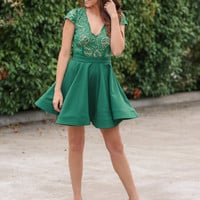 A Royal Engagement Cocktail Dress - Green
