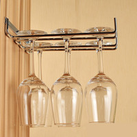 Kitchen Bar Hanging Wine Glass Cup Holder Drinking Glasses Champagne Stemware Rack Wall Cabinet Storage Organizer Tool