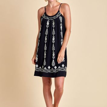 THML Embroidered Spaghetti Strap Dress