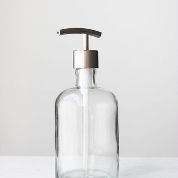 Recycled Glass Soap Dispensers- Clear Glass