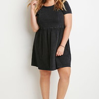 Mineral Wash Fit & Flare Dress