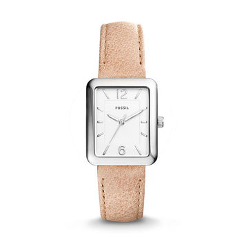 Atwater Three-Hand Sand Leather Watch